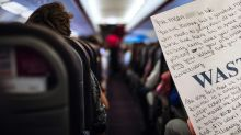 Passenger pens 'revolting' message to flight attendant on sick bag