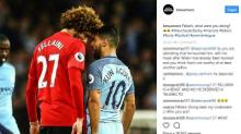 City-United, clamorosa testata di Fellaini ad Aguero