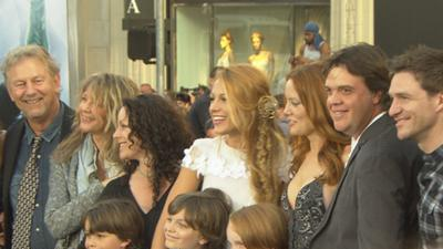 Blake Lively Brings The Entire Family To The 'Green Lantern' Premiere
