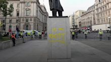 Teenager fined for spraying 'racist' on Sir Winston Churchill statue