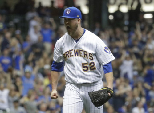 Jimmy Nelson's breakout has been a huge factor in the Brewers rise to prominence. (AP Photo)