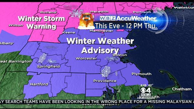 WBZ Accuweather Forecast for March 12