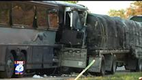 Five People Remain in Critical Condition After Bus Collides With Semi