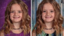 Young girl's school pics go viral for hilarious reason