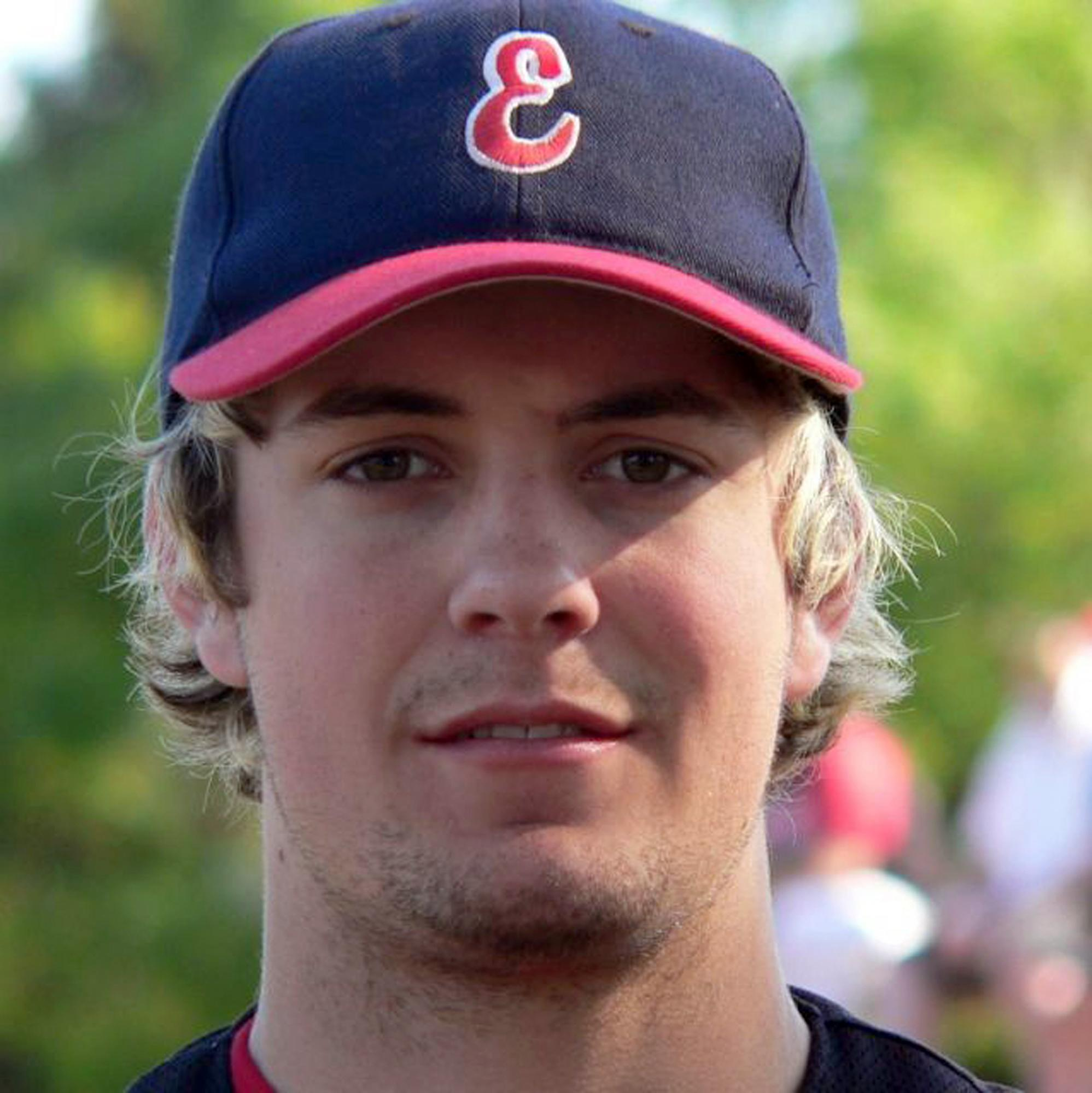 """In this undated photo provided by the Essendon Baseball Club, player Chris Lane wears his baseball equipment, in Australia. The Australian baseball player out for a jog in an Oklahoma neighborhood was shot and killed by three """"bored"""" teenagers who decided to kill someone for fun, police said. Lane, who was visiting the town of Duncan where his girlfriend and her family lives, had passed a home where the boys were staying and that apparently led to him being gunned down at random, Police Chief Danny Ford said Monday, Aug. 19, 2013. (AP Photo/Essendon Baseball Club) EDITORIAL USE ONLY"""