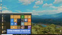 Editing videos using the free Microsoft Windows 10 Photos app