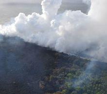 Hawaii's destructive lava flows hit the ocean, making the Big Island bigger