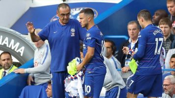 Maurizio Sarri urges Eden Hazard to remain at Chelsea for the rest of his career