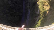 Fearless Mates Brave 200-Foot Drop Off Bridge in New Zealand