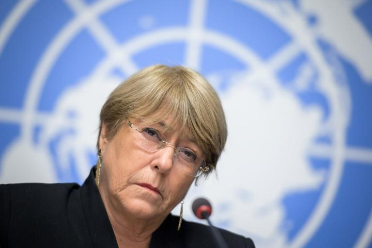 "China's mission to the UN in Geneva said an op-ed written by Michelle Bachelet (pictured September 2019) was ""erroneous"""