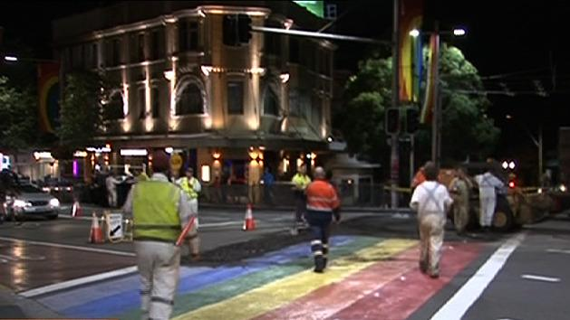 Sydney's rainbow crossing removed