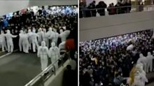 Chaotic scenes at Chinese airport as crowds forced into mass Covid testing