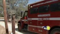 Grass fire contained in Fresno County