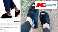 Kmart fans choosing $12 furry slippers over $200 designer option