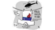 Um protesto contra a morte de Marcos Vinícius