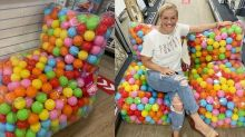 HomeGoods Is Selling a Ball Pit Chair That Your Inner Child Will Obsess Over