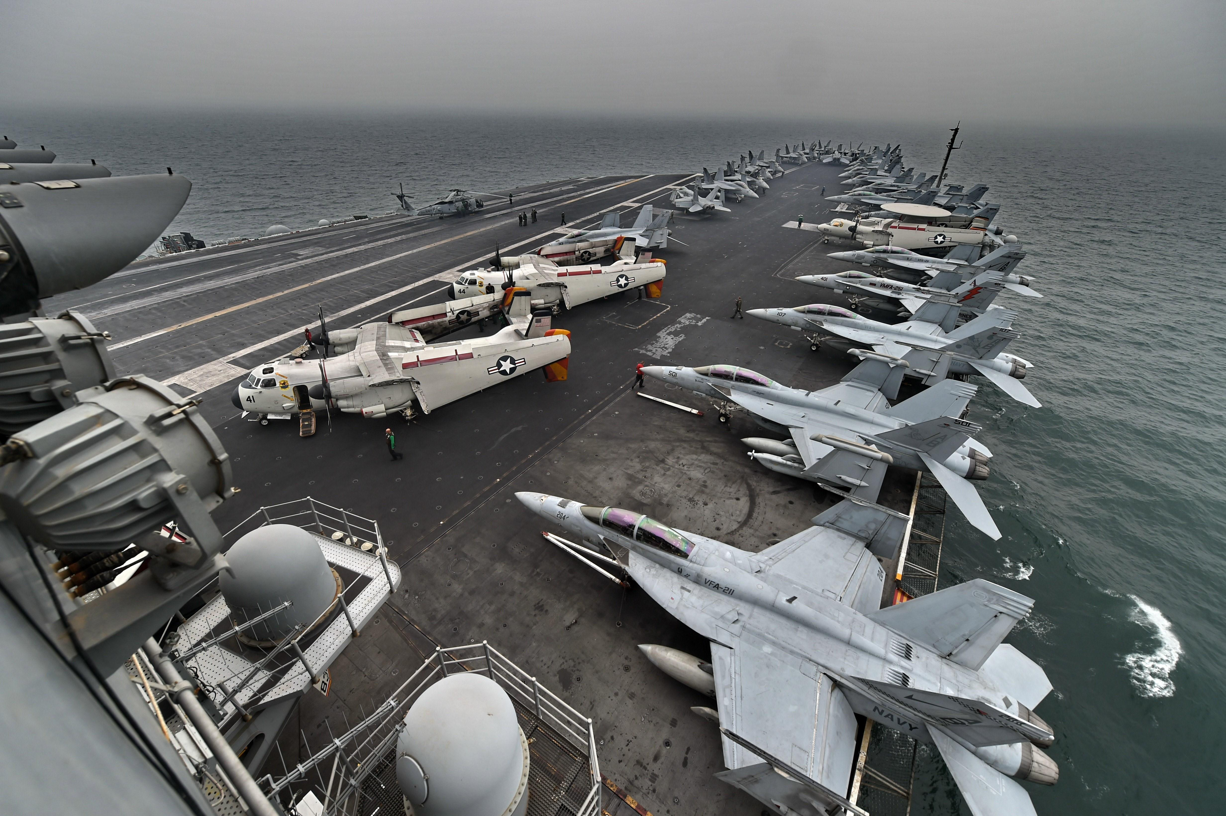 Acting Navy secretary rips ousted captain of aircraft carrier