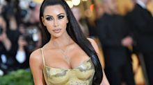 Kim Kardashian Glitters In Gold Balmain Dress Of Dreams For Friends' Wedding
