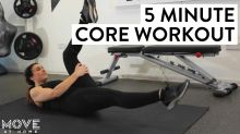 5 Minute Home Core Workout Without Equipment | Move At Home