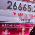 Hong Kong and China stocks tumble over 3% on tech crackdown, while Nikkei gains