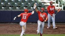 Reds beat Brewers 6-1 as teams resume play following protest