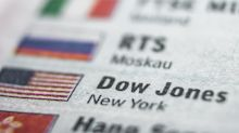 Dow Jones Index Falls after Rising for Eight Days