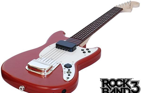 Rock Band 3's gear priced: keytar and Pro guitar sport MIDI out, adapter lets you use any keyboard / electronic drum set