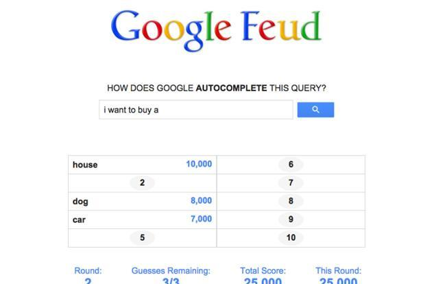 Game turns Google's search suggestions into 'Family Feud'