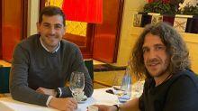 Iker Casillas y Carles Puyol, el reencuentro de dos leyendas del fútbol español