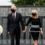 Memorial Day: Biden wears face mask for first public appearance in 10 weeks but Trump refuses to