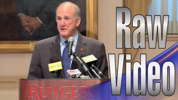 Complete Rutgers University news conference