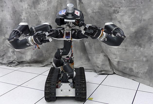 Surge the rescue robot is RoboSimian's more evolved sibling