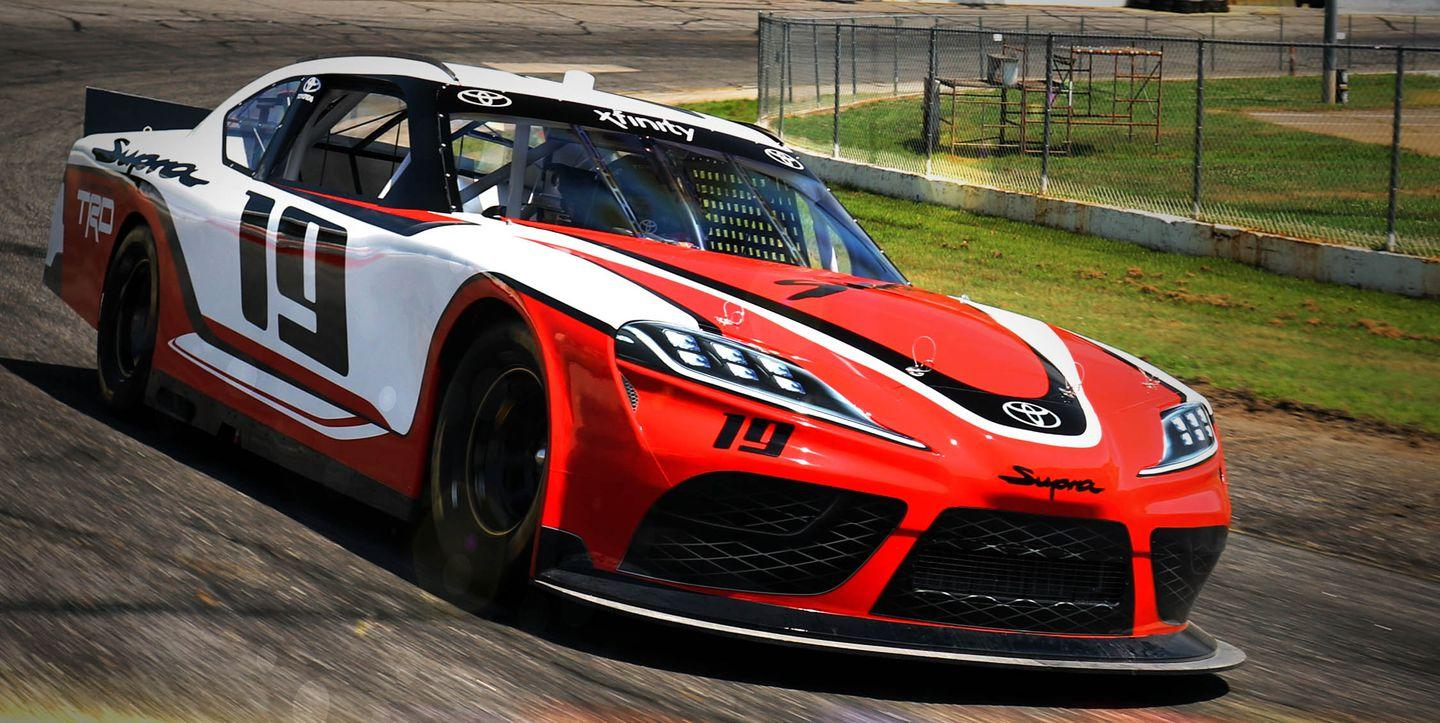 here s the new toyota supra as a nascar racer. Black Bedroom Furniture Sets. Home Design Ideas