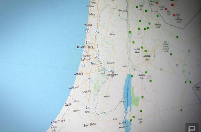 Google explains why Palestine isn't labeled in Maps