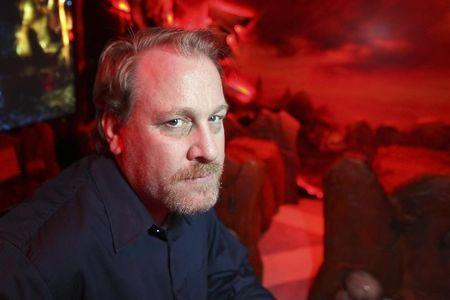 Former MLB player Curt Schilling poses for Reuters at E3 convention in Los Angeles