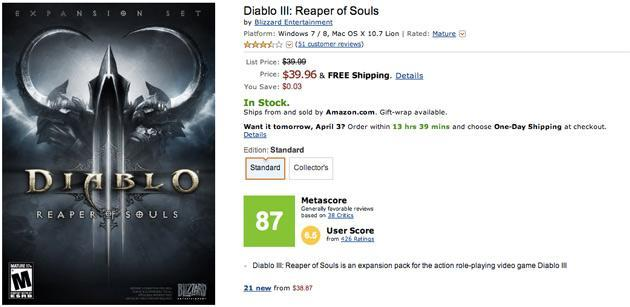 Amazon quietly adds Metacritic review scores to video game listings
