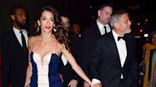 Amal Clooney dazzles in semi-sheer £5,000 gown at awards night