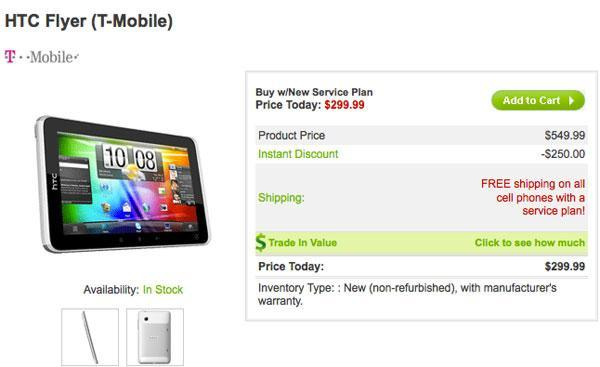 HTC Flyer touches down at T-Mobile, Scribe pen not included