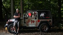 Pennywise, take the wheel: A scary clown appears to drive man's 'It'-themed Jeep