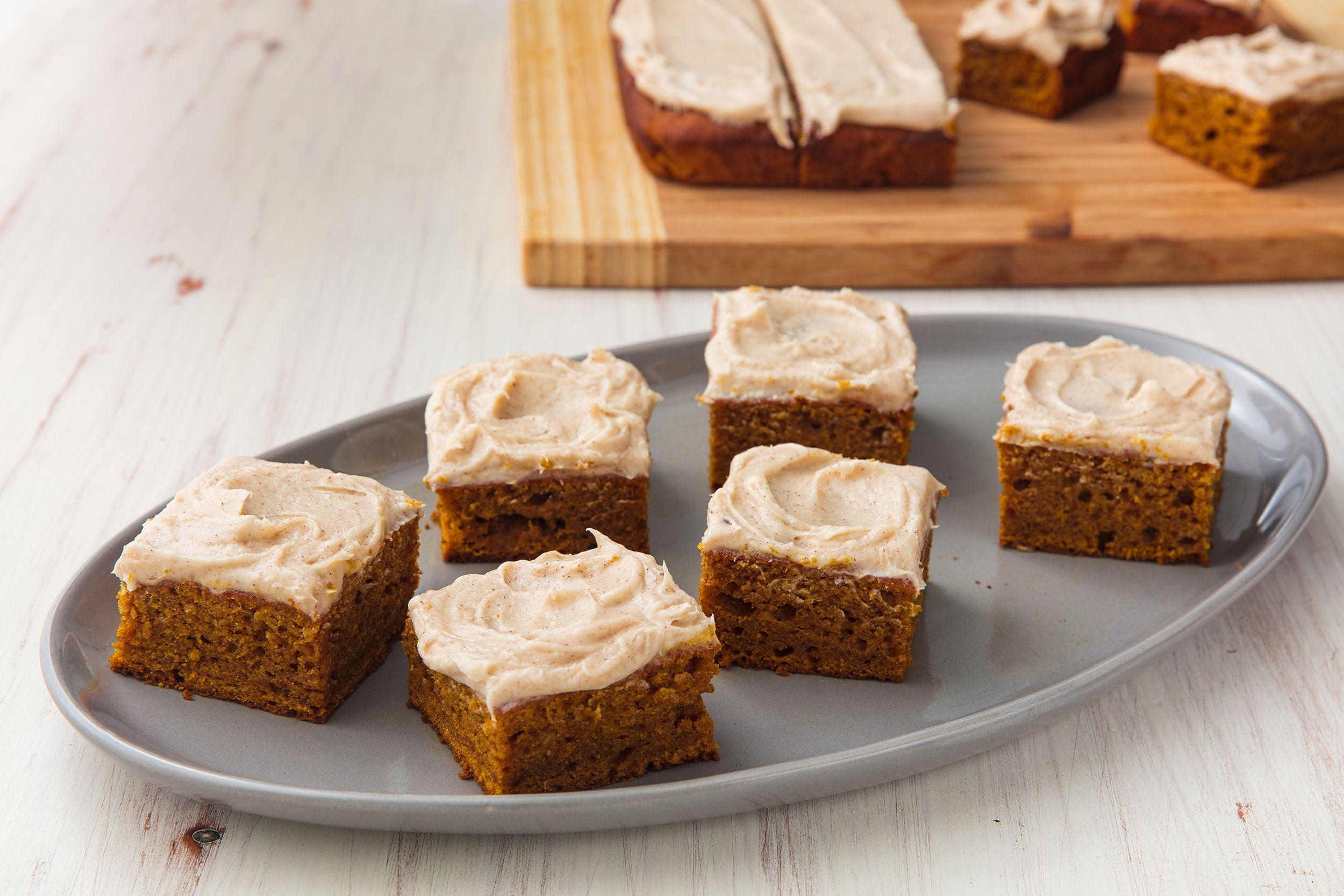 <p>Celebrate fall with these easy pumpkin bar recipes. They're just as tasty as pie, with way less work.</p>