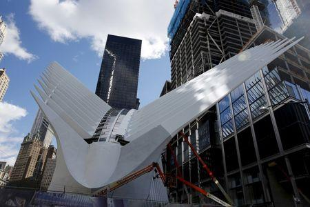 The Oculus structure of the World Trade Center Transportation Hub is pictured in New York, in this file photo taken February 26, 2016. REUTERS/Shannon Stapleton/Files