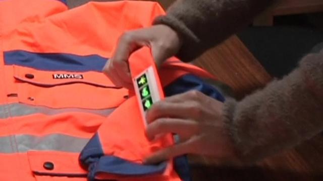 Mining jacket a wearable warning system for workers underground