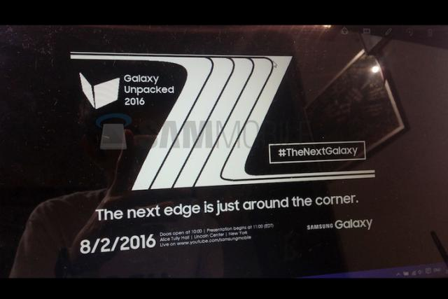 Galaxy Note 7 Release Date Leak