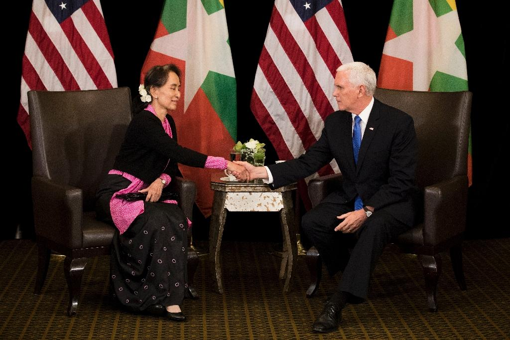 The jailing of the reporters sparked widespread condemnation, including from US Vice President Mike Pence, who asked civilian leader Aung San Suu Kyi to intervene (AFP Photo/Bernat Armangue)