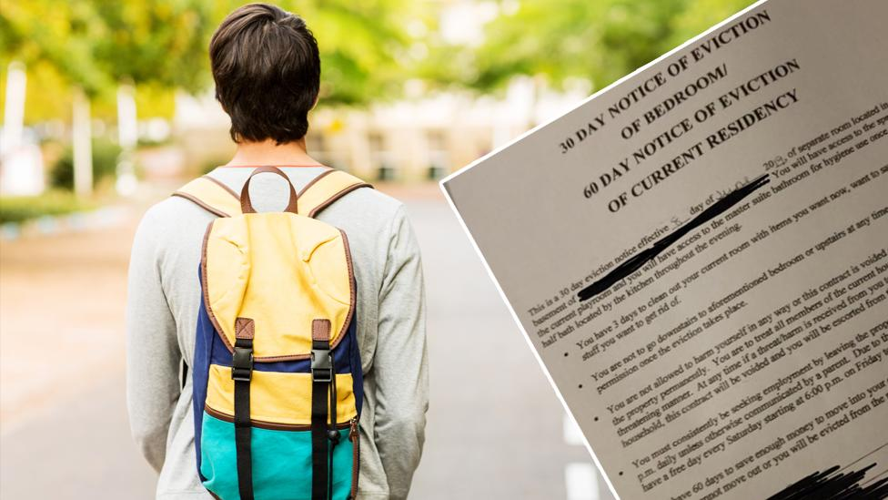 Parents create 'heartbreaking' contract to evict 18-year-old son