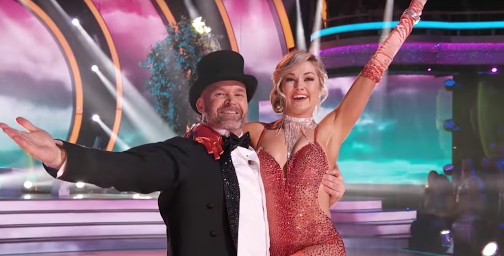 David Ross with partner Lindsay Arnold on