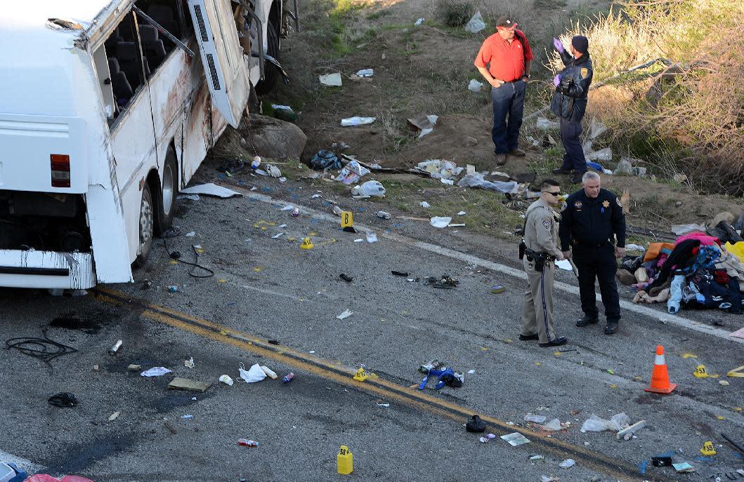 Bus passenger describes terror before Calif  crash
