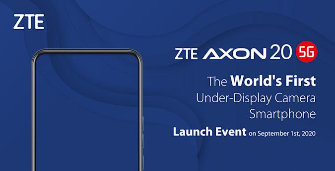 ZTE Axon 20 5G to be launched on Sep.1 2020