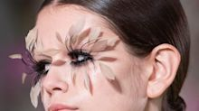 Feather Lashes And Floral Face Paint: Valentino Couture Was A Beauty Fantasy