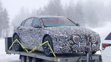 Next-gen Jaguar XJ spotted in mule form during winter testing